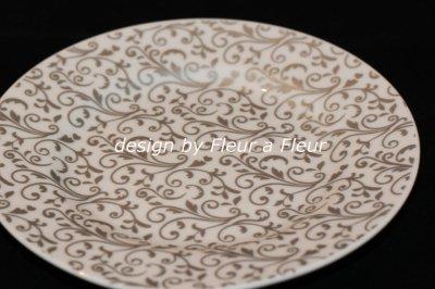 画像1: 白磁用転写紙 NEWアラベスク メタリックグレー