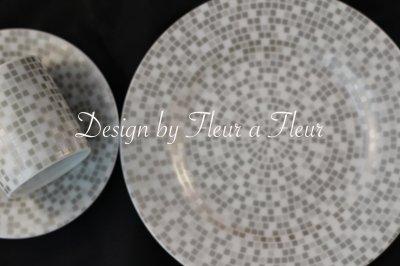 画像1: mosaic circle (モザイクサークル) 円形 グレー系