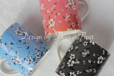 画像2: (数量限定)Chic flower&同色単色転写紙 3色6枚お特セット!