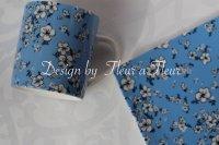 Chic flower ブルー