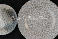 (週末セール限定半額転写紙!!)mosaic circle (モザイクサークル) 円形 グレー系