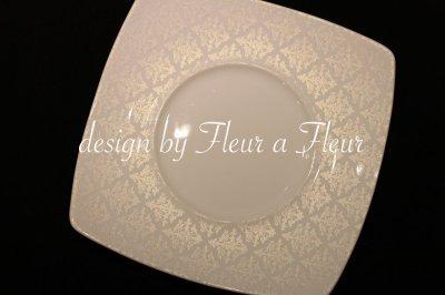 画像3: 白磁用転写紙 tiny damask  パールホワイト
