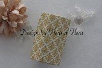 白磁用転写紙 tiny damask  メタリックゴールド