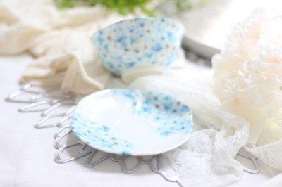 画像1: 白磁用転写紙 hydrangea ブルー 5枚セット